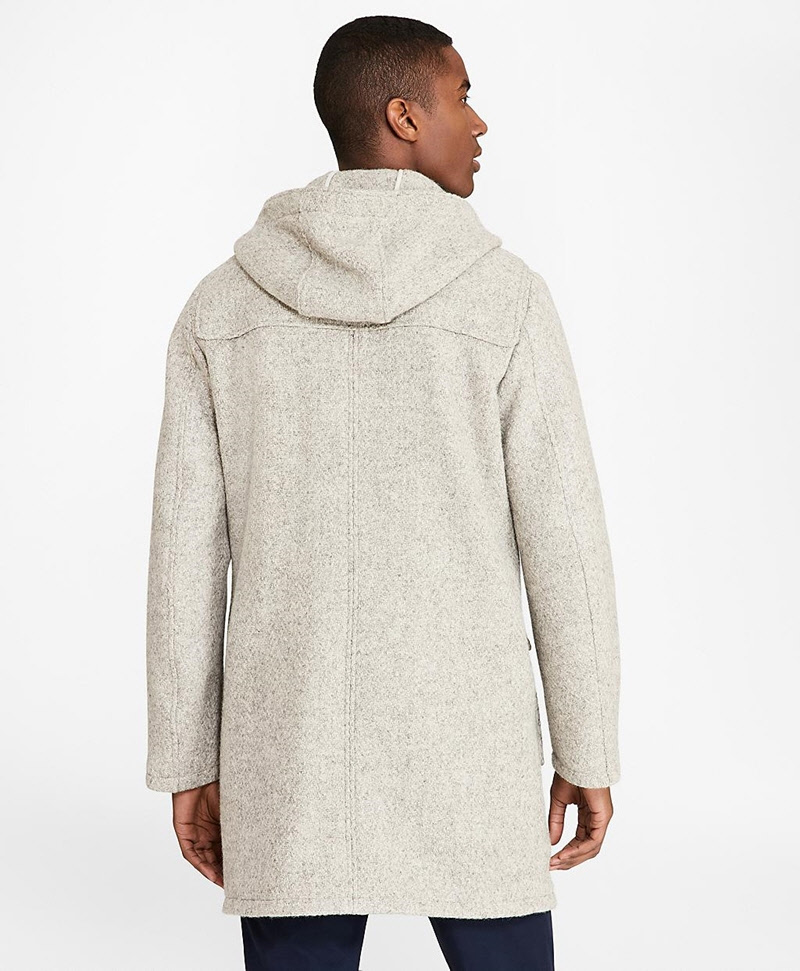 Textured Wool Duffle Coat 썸네일 이미지 3
