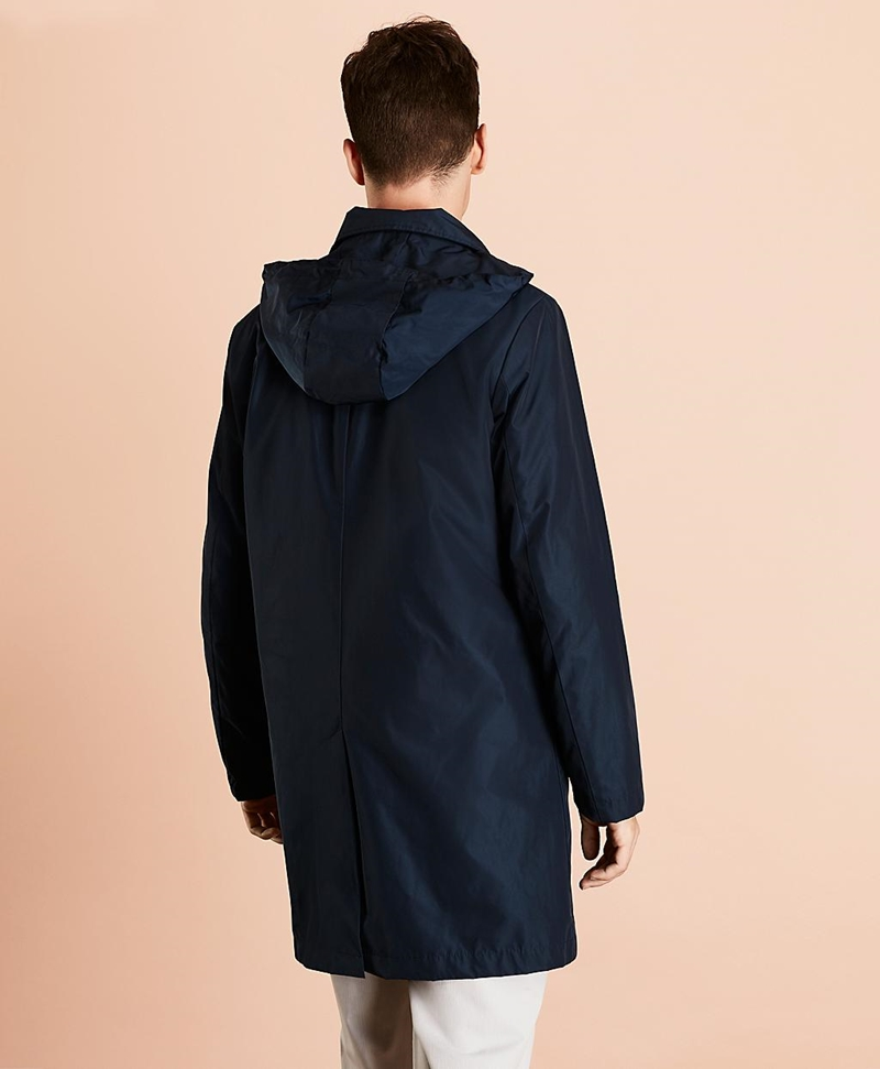 Water-Repellent Hooded Trench Coat 썸네일 이미지 3