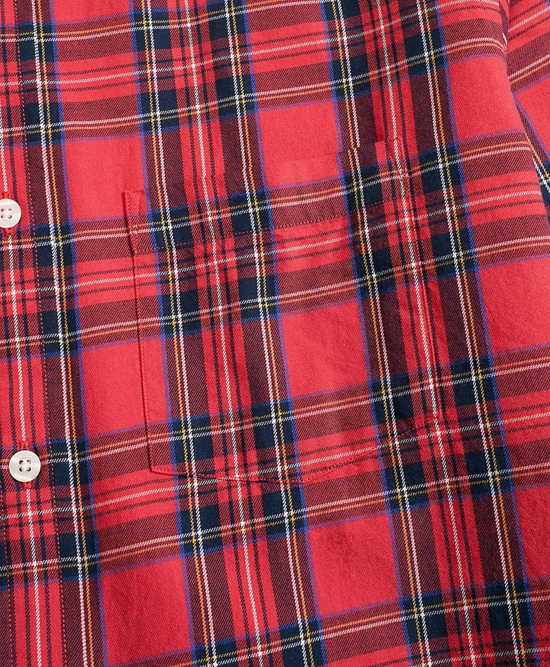 Tartan Cotton Flannel Sport Shirt 썸네일 이미지 3