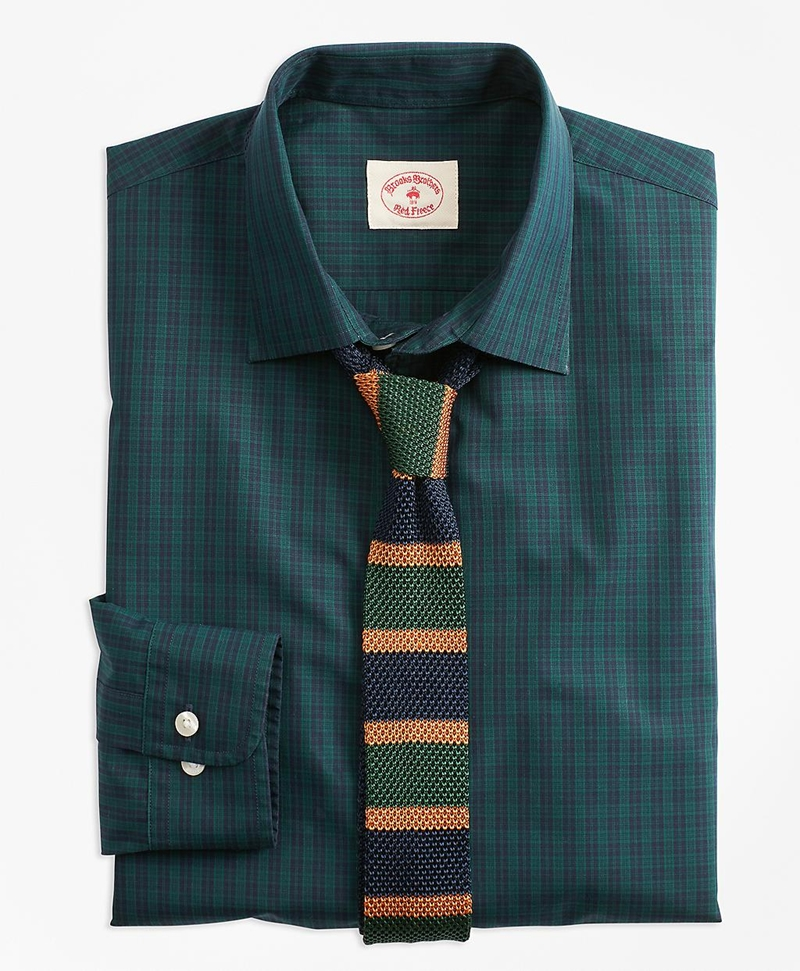 Black Watch Tartan Nine-to-Nine Spread Collar Shirt 썸네일 이미지 3