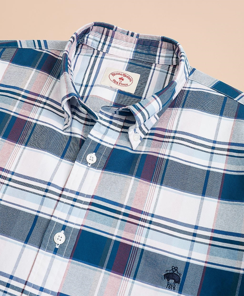 Plaid Cotton Oxford Sport Shirt 썸네일 이미지 3
