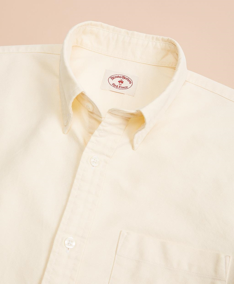 Solid Cotton Oxford Sport Shirt 썸네일 이미지 3