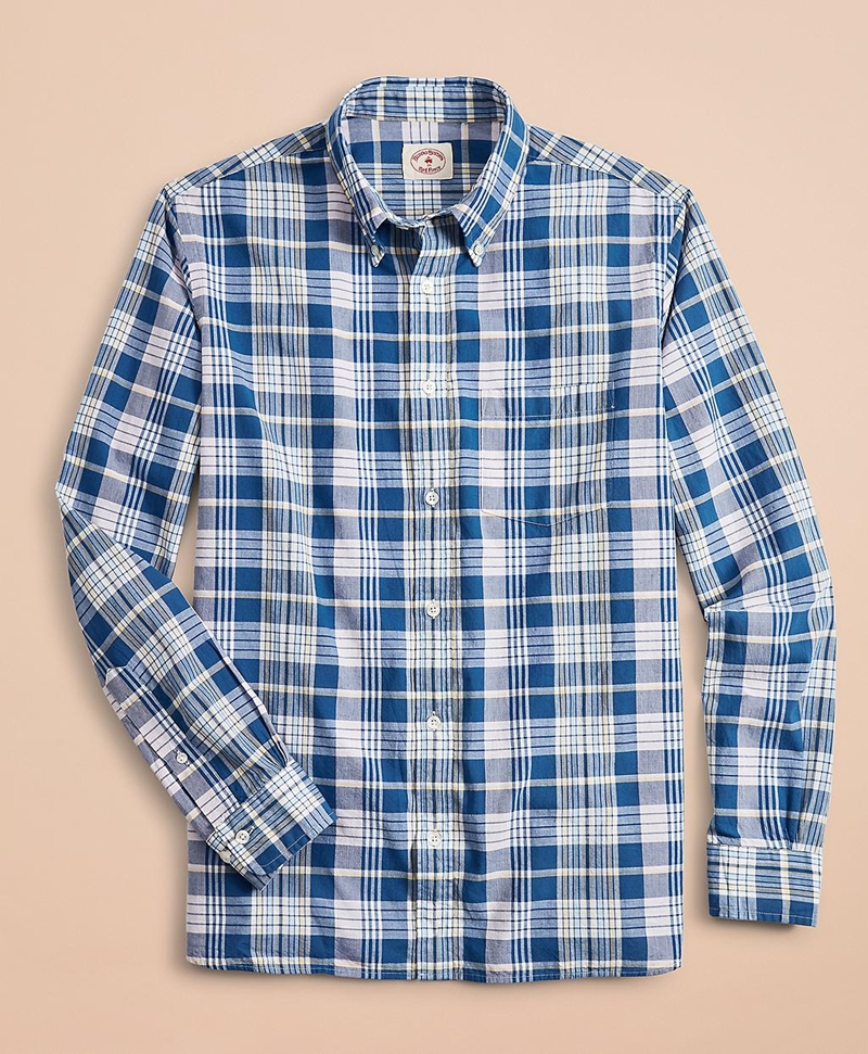 Madras Cotton Sport Shirt 썸네일 이미지 3