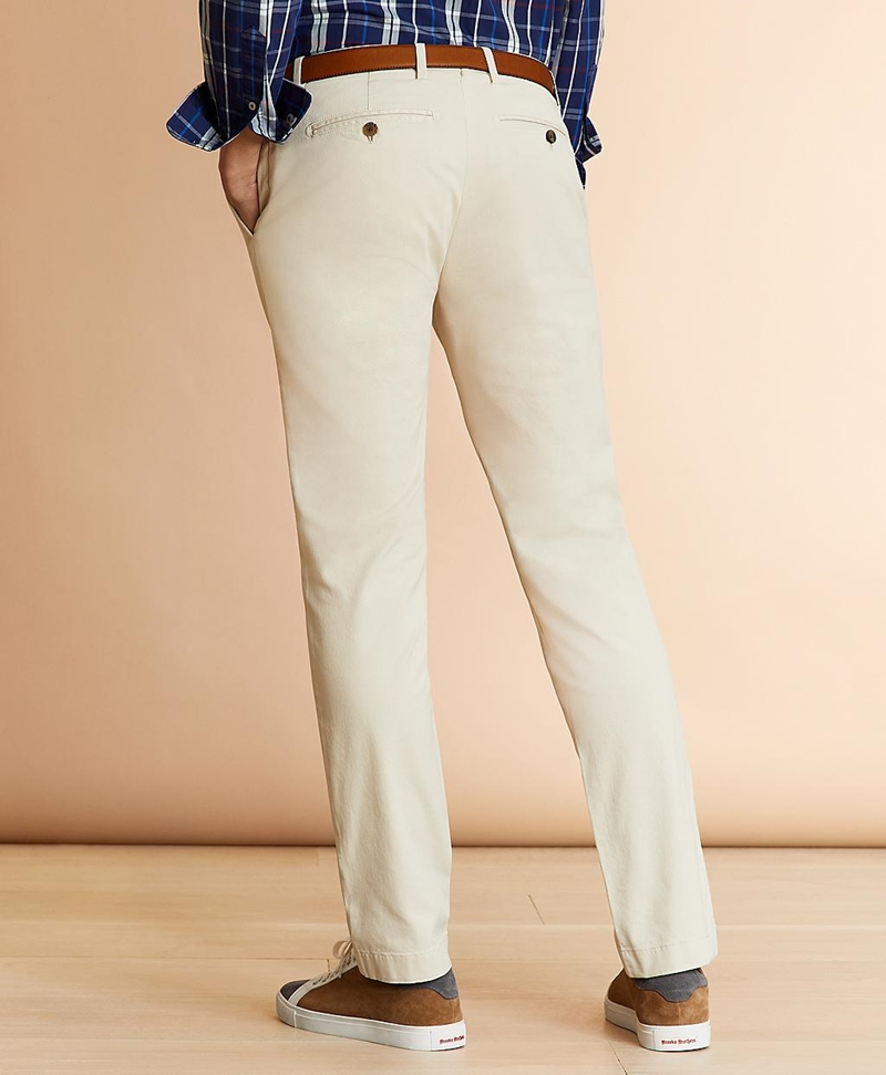 Slim Fit Garment-Dyed Stretch Chinos 썸네일 이미지 3