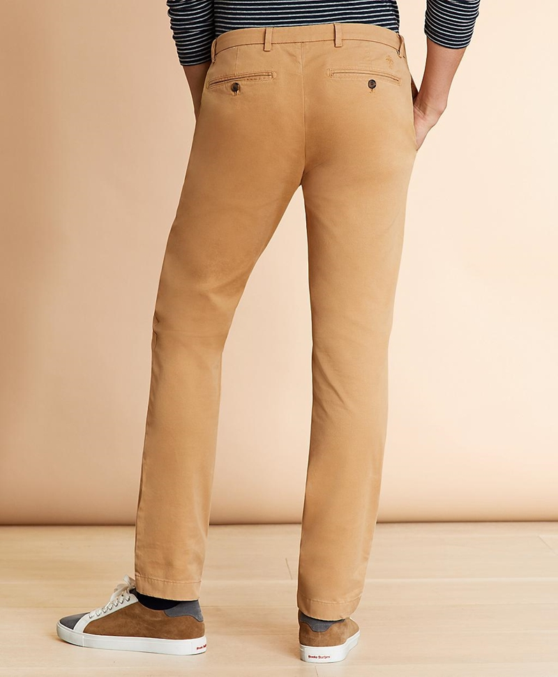Slim-Fit Garment-Dyed Stretch Chinos 썸네일 이미지 3
