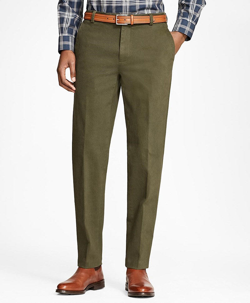 Milano Fit Brushed Twill with Stretch Chinos 썸네일 이미지 3