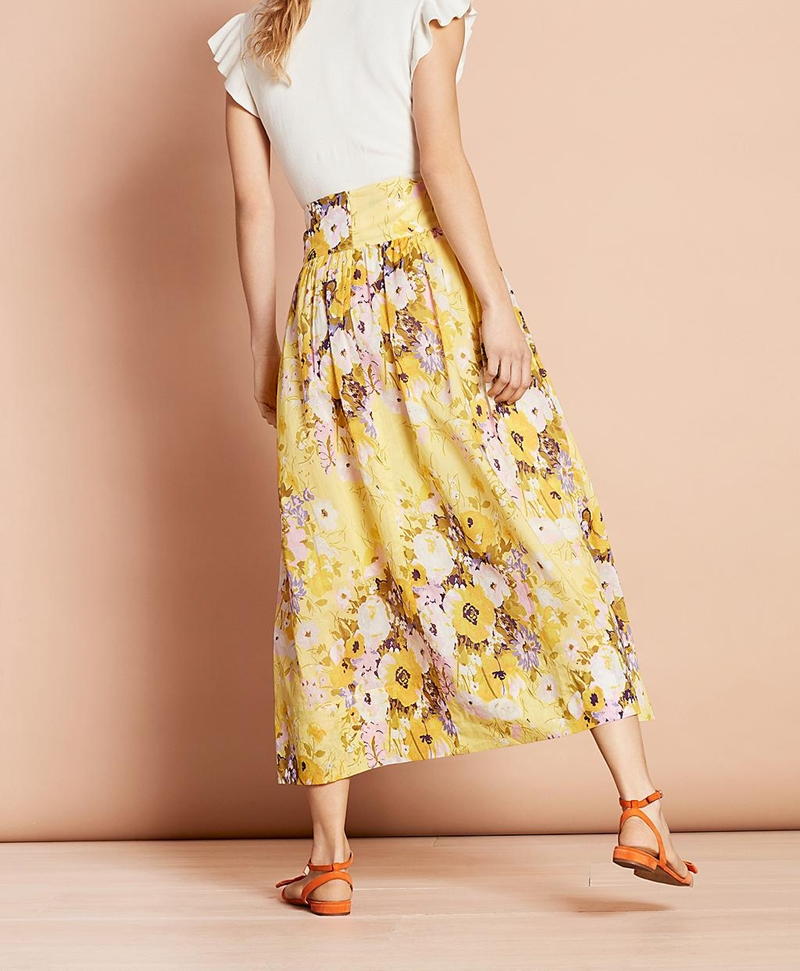 Floral-Print Cotton Maxi Skirt 썸네일 이미지 3
