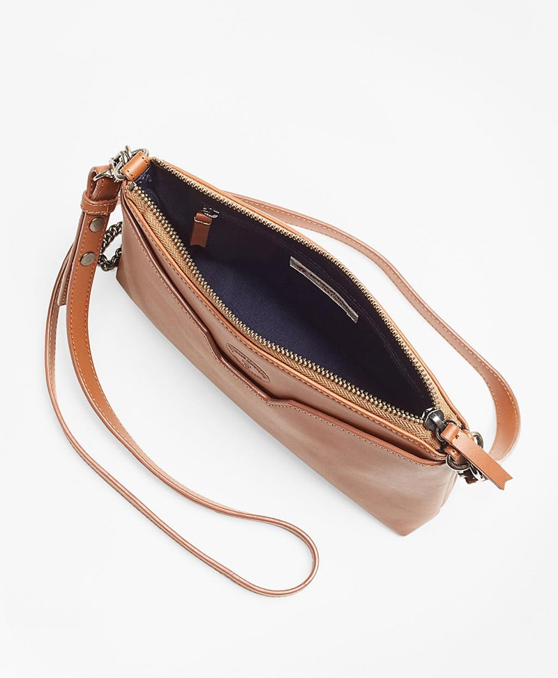 Leather Double-Strap Convertible Cross-Body Bag 썸네일 이미지 3