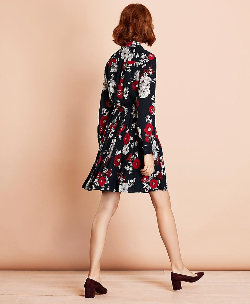 Floral-Print Crepe Shirt Dress 썸네일 이미지 3