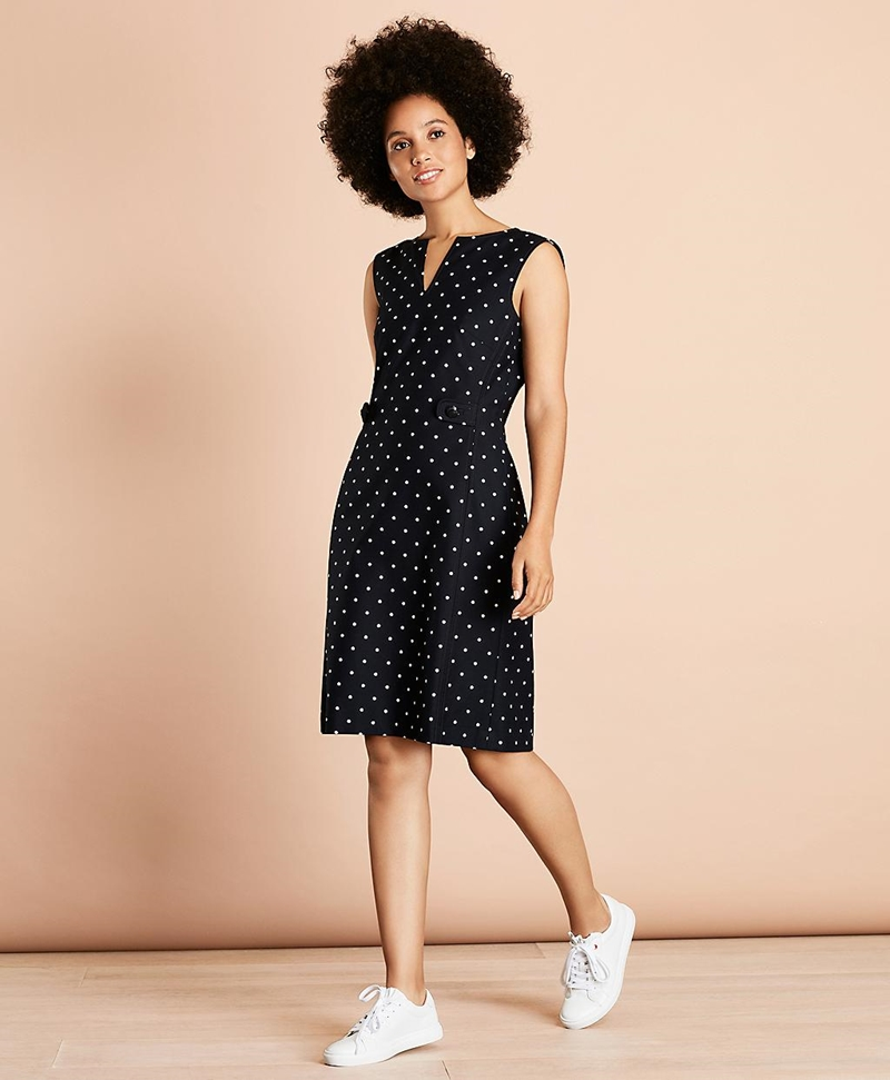 Cotton Sateen V neck Sleeveless Dress 썸네일 이미지 3