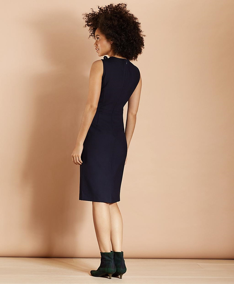 Bow-Neck Wool-Blend Twill Sheath Dress 썸네일 이미지 3