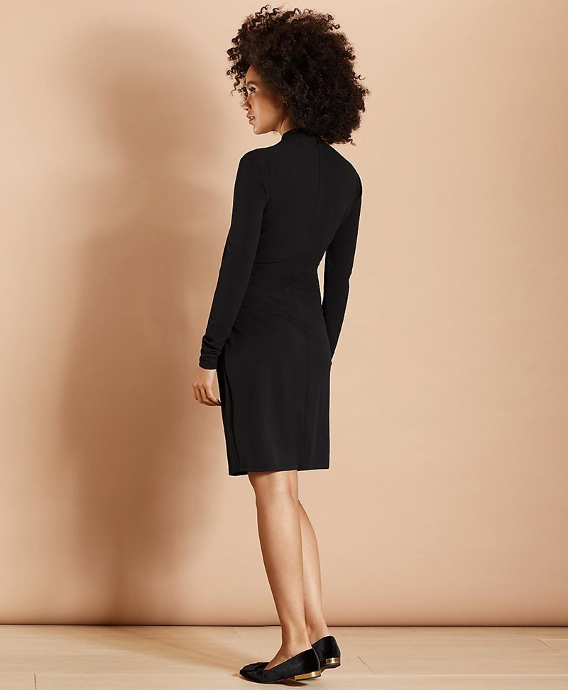 Crepe Jersey Ruched Sheath Dress 썸네일 이미지 3