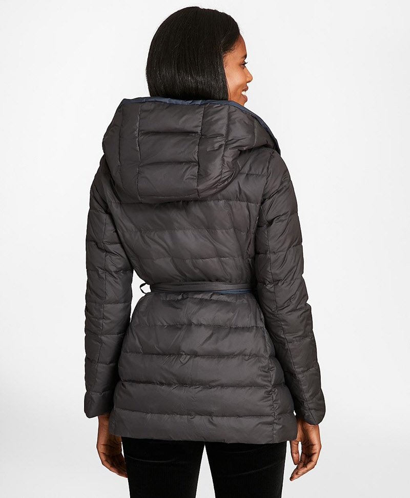 Reversible Water-Repellent Down-Filled Wrap Coat 썸네일 이미지 3