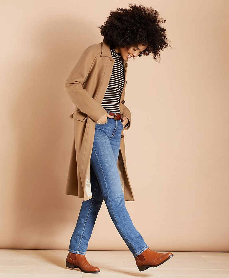 Water-Repellent Stretch-Wool Twill Trench Coat 썸네일 이미지 3