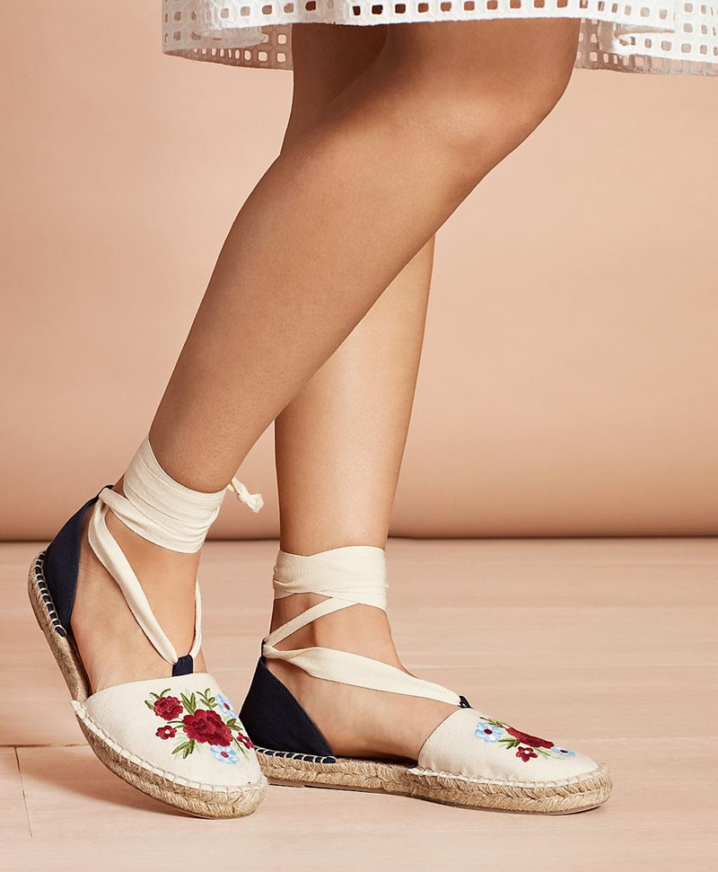 Floral-Embroidered Espadrilles 썸네일 이미지 3