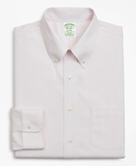Stretch Milano Slim-Fit Dress Shirt, Non-Iron Pinstripe 썸네일 이미지 4
