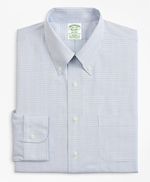 Stretch Milano Slim-Fit Dress Shirt, Non-Iron Grid Check 썸네일 이미지 4