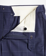 BrooksGate™ Regent-Fit Windowpane Wool Twill Suit Pants 썸네일 이미지 4