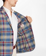 Plaid Three-Button Linen Twill Sport Coat 썸네일 이미지 4