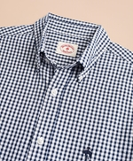 Gingham Seersucker Short-Sleeve Sport Shirt 썸네일 이미지 4