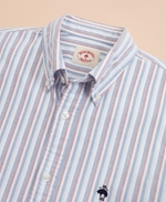 Multi-Stripe Cotton Oxford Sport Shirt 썸네일 이미지 4