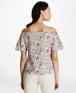 Botanical-Print Cotton Poplin Off-the-Shoulder Top 썸네일 이미지 4