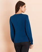 Wool-Cotton Pointelle-Detail Sweater 썸네일 이미지 4