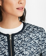 Water-Repellent Floral-Print Reversible Quilted Jacket 썸네일 이미지 4