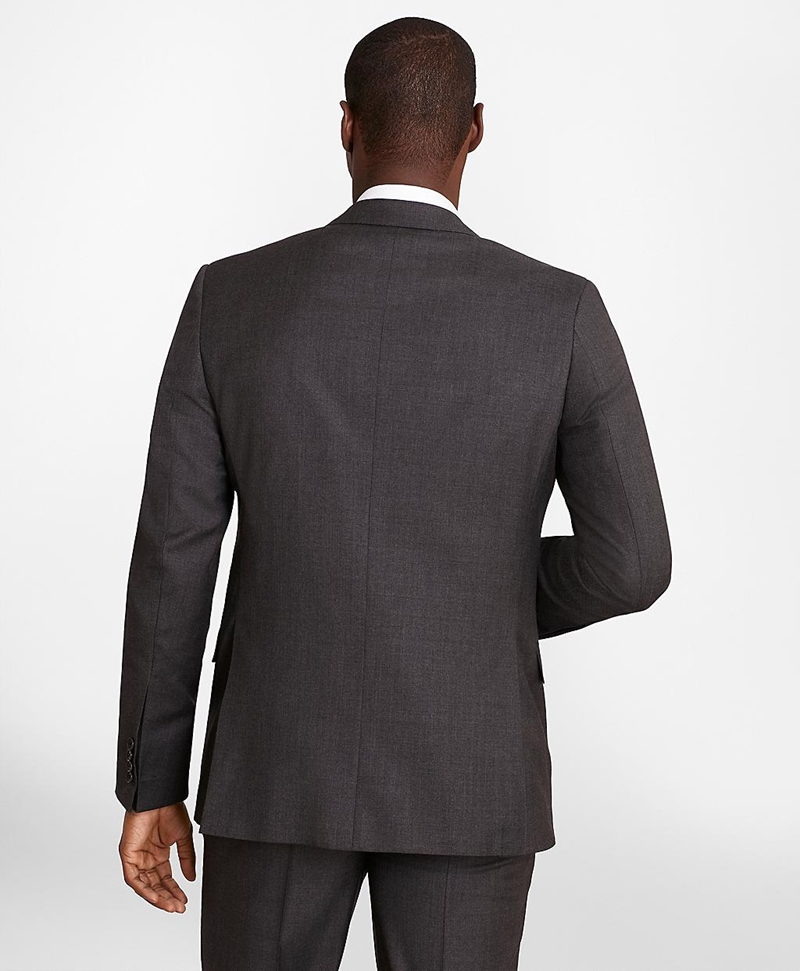 BrooksGate™ Regent-Fit Wool Twill Suit Jacket 썸네일 이미지 4