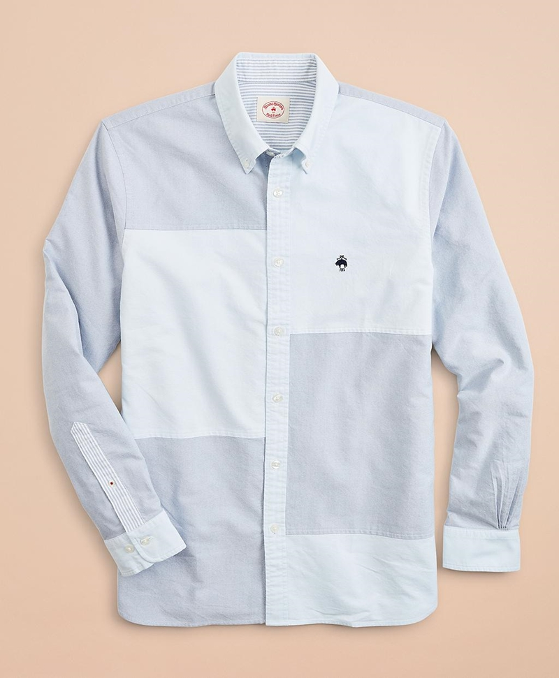 Patchwork Oxford Sport Shirt 썸네일 이미지 4