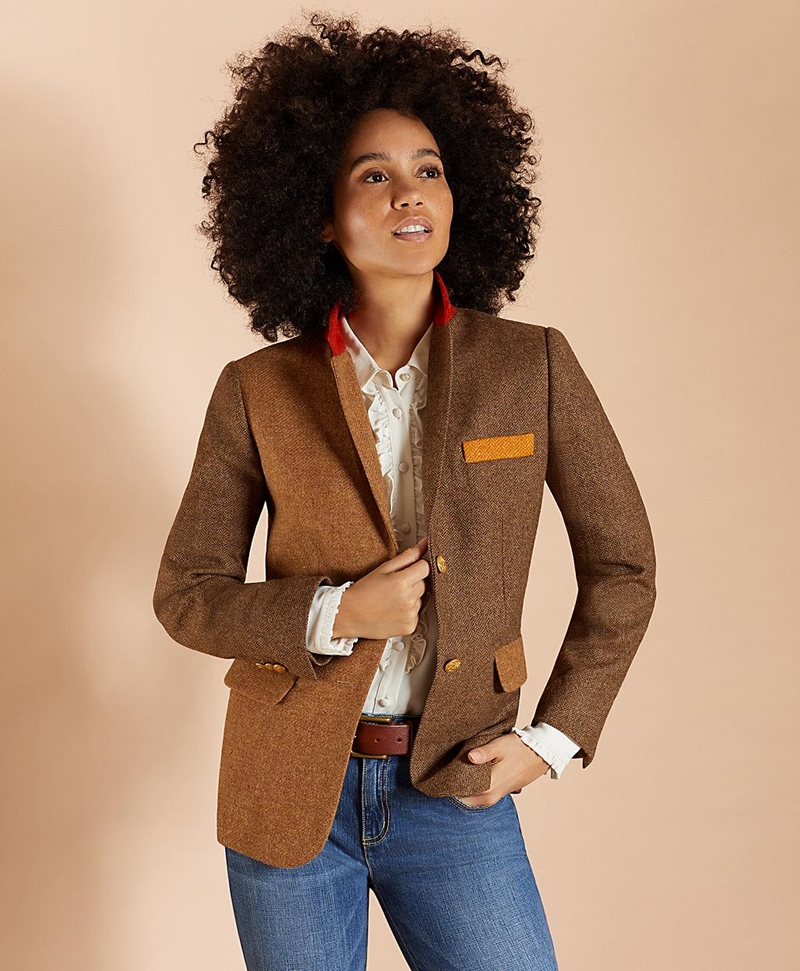Patchwork Wool Twill Jacket 썸네일 이미지 4