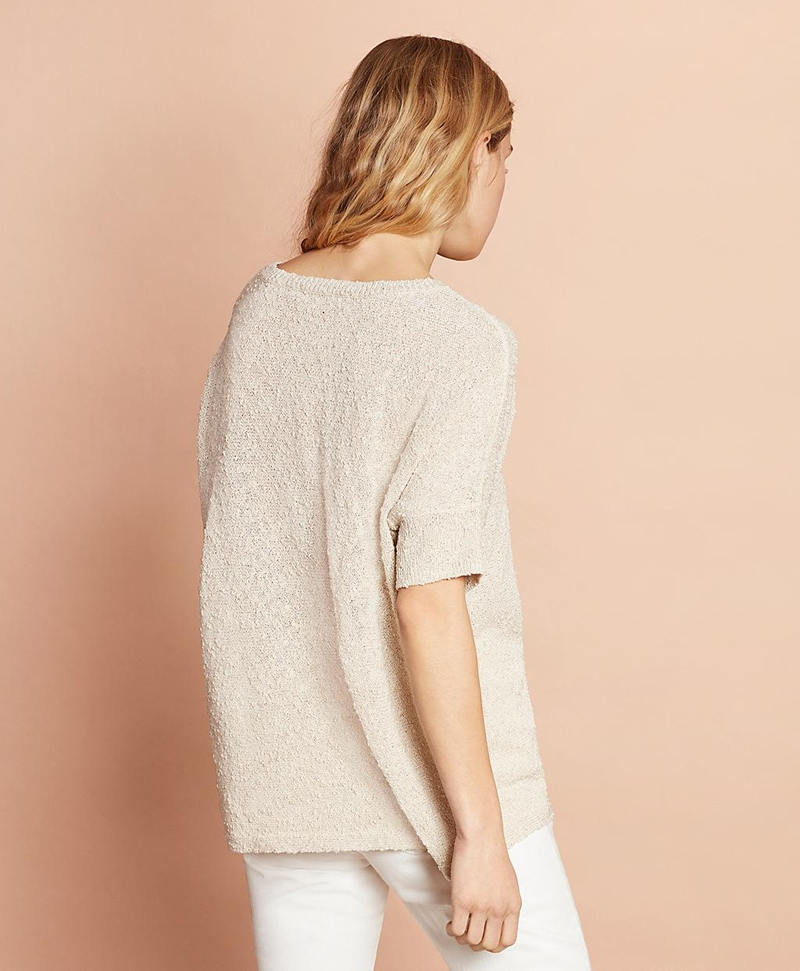 Shimmer Boucle-Knit Sweater 썸네일 이미지 4