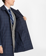 Windowpane Water-Repellent Trench Coat 썸네일 이미지 5