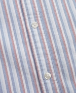 Multi-Stripe Cotton Oxford Sport Shirt 썸네일 이미지 5