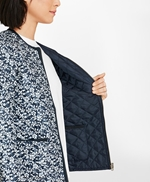 Water-Repellent Floral-Print Reversible Quilted Jacket 썸네일 이미지 5