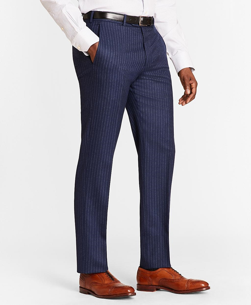 Regent Fit Double Stripe Flannel 1818 Suit 썸네일 이미지 5