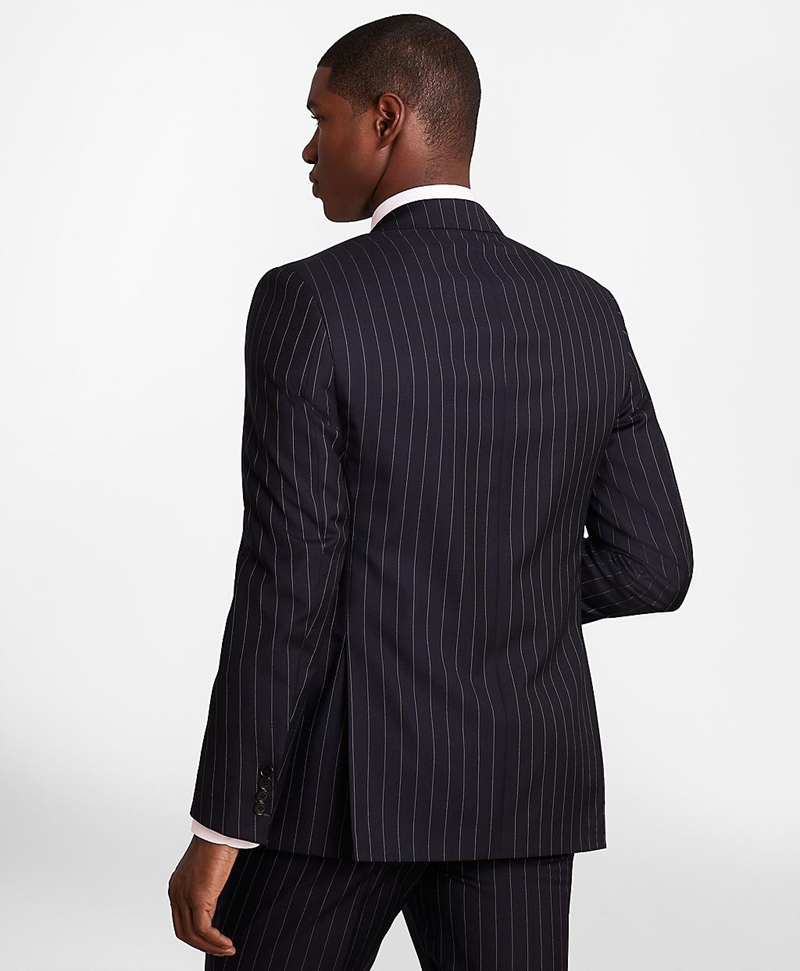 BrooksGate™ Regent-Fit Bead-Stripe Twill Suit Jacket 썸네일 이미지 5