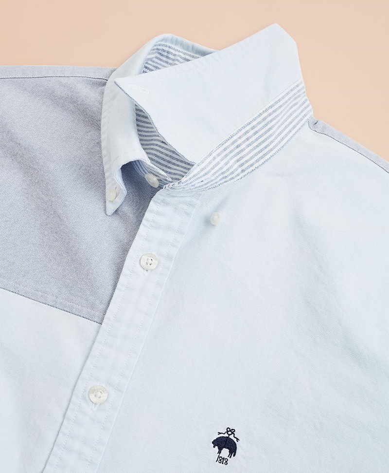 Patchwork Oxford Sport Shirt 썸네일 이미지 5