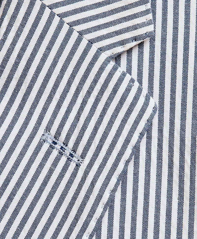 Striped Seersucker Two-Button Sport Coat 썸네일 이미지 6