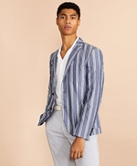 Striped Cotton Chambray Sport Coat 썸네일 이미지 1