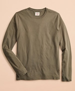 Garment-Dyed Cotton Jersey Long-Sleeve T-Shirt 썸네일 이미지 1