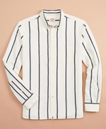 Indigo Striped Canvas Shirt 썸네일 이미지 1
