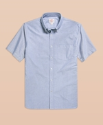 1818 Oxford Solid Short Sleeve Sport Shirt 썸네일 이미지 1