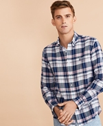 Plaid Linen-Cotton Poplin Shirt 썸네일 이미지 1