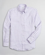 Regent Fitted Sport Shirt, Irish Linen Gingham 썸네일 이미지 1