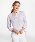 Gingham Irish Linen Tunic 썸네일 이미지 1