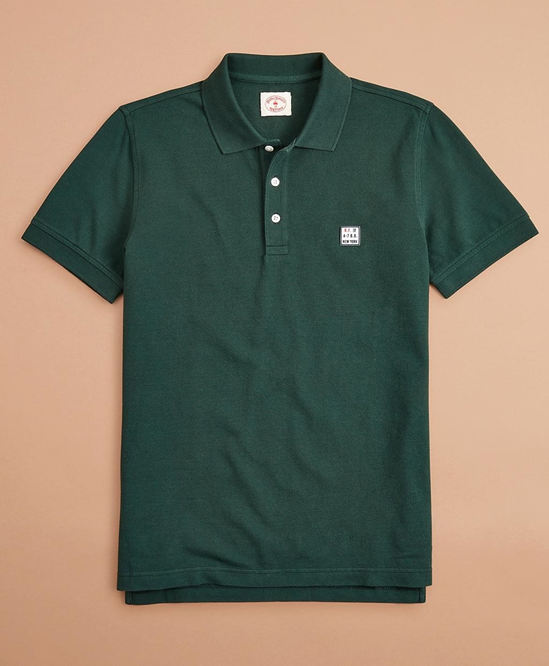 Garment-Dyed Cotton Pique Polo Shirt 썸네일 이미지 1