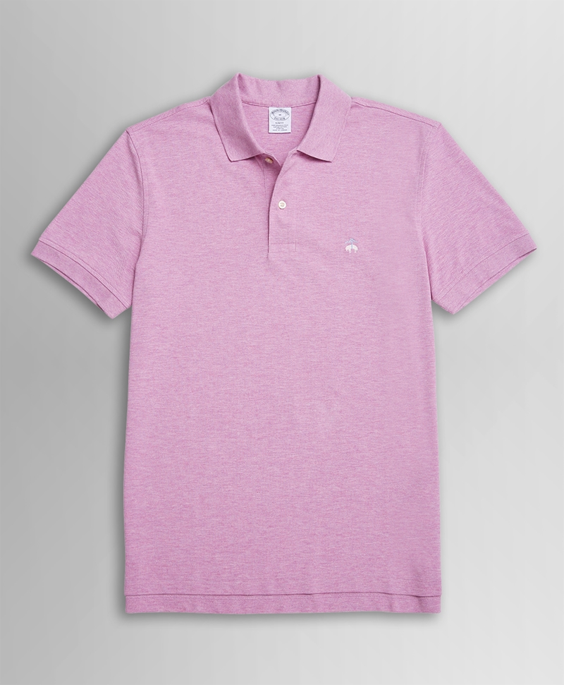 KNT SS SUPIMA PERF POLO SLIM Dk. Pink 썸네일 이미지 1