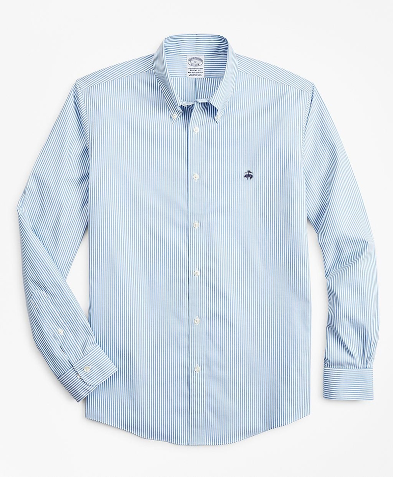 Stretch Regent Fitted Sport Shirt, Non-Iron Stripe 썸네일 이미지 1