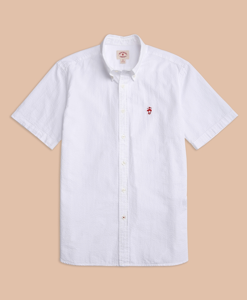 Short Sleeve Seersucker Sport Shirt 썸네일 이미지 1